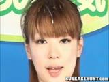 newscaster in japanese bukkake sex video
