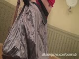 50-year-old MIlf Karolina strips out her gypsy flowing clothes