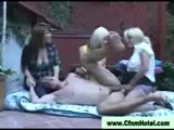 Femdom cfnm strapon girls in the garden