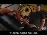 Kinky brunette India Summer loves to be tied up and spanked