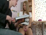 Anal with a cute blonde teen Megan Vale