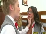 teen gf faye reagan and 3 hot school girl friends fuck huge cock