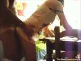 Teen Doggystyle Quickie On The Dining Table